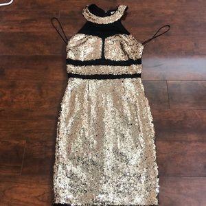 Glitter bodycon dress